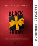 black friday sale poster or... | Shutterstock .eps vector #751027966