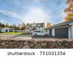 big family house with double... | Shutterstock . vector #751031356