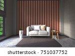 3d rendering interior... | Shutterstock . vector #751037752