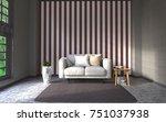 3d rendering interior... | Shutterstock . vector #751037938