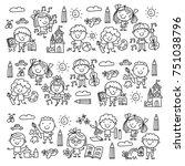 kindergarten school education...   Shutterstock .eps vector #751038796