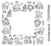 kindergarten school education... | Shutterstock .eps vector #751039066