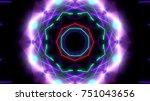 futuristic neon lights   Shutterstock . vector #751043656