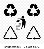set of recycle icon for packing ...