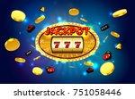 jackpot lucky wins golden slot... | Shutterstock .eps vector #751058446