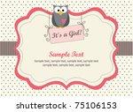 girl shower invitation | Shutterstock .eps vector #75106153
