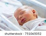 sleeping baby boy | Shutterstock . vector #751065052
