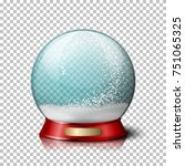 vector realistic christmas snow ...   Shutterstock .eps vector #751065325