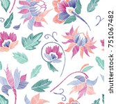 floral seamless background... | Shutterstock .eps vector #751067482