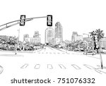 san antonio. texas. usa. hand... | Shutterstock .eps vector #751076332
