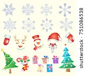 christmas icon vector create... | Shutterstock .eps vector #751086538