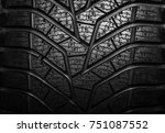 winter tire close up. texture... | Shutterstock . vector #751087552