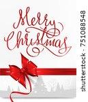 merry christmas background   Shutterstock .eps vector #751088548