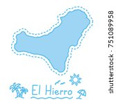 el hierro island map isolated... | Shutterstock .eps vector #751089958