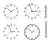 vector clock | Shutterstock .eps vector #75109459