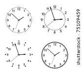 vector clock | Shutterstock .eps vector #75109459