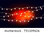 glowing stars on a transparent... | Shutterstock .eps vector #751109626