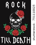 rock till death type fashion... | Shutterstock .eps vector #751110025