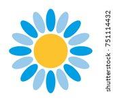 flower vector icon | Shutterstock .eps vector #751114432