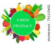 vegetables icons set in... | Shutterstock . vector #751115602