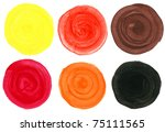 set of watercolor blobs ...   Shutterstock .eps vector #75111565