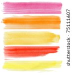 colorful watercolor banners.... | Shutterstock .eps vector #75111607