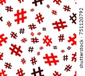 hashtag icon seamless pattern.... | Shutterstock .eps vector #751120792