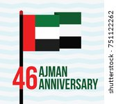 46 ajman anniversary with... | Shutterstock .eps vector #751122262