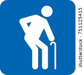 elderly icon pictogram special... | Shutterstock .eps vector #751125415