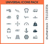 shipping icons set. collection... | Shutterstock .eps vector #751133356