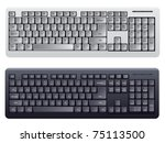 computer keyboard in white and... | Shutterstock .eps vector #75113500