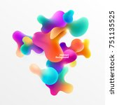 plastic colorful shapes.... | Shutterstock .eps vector #751135525