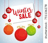 christmas big winter sale | Shutterstock .eps vector #751136278