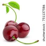 cherry isolated on white... | Shutterstock . vector #751137586