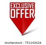 banner exclusive offer | Shutterstock .eps vector #751142626