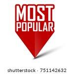 banner most popular | Shutterstock .eps vector #751142632