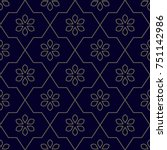 simple geometric pattern.... | Shutterstock .eps vector #751142986
