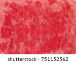 handpainted red colored... | Shutterstock .eps vector #751152562