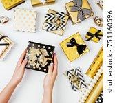 women organising beautifully... | Shutterstock . vector #751160596