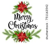 christmas design composition... | Shutterstock . vector #751163542