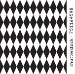 geometric black and white... | Shutterstock .eps vector #751164598