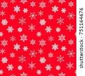 snowflakes seamless pattern... | Shutterstock .eps vector #751164676