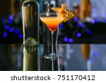 glass with tasty exotic... | Shutterstock . vector #751170412