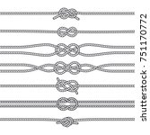 sailing knots horizontal... | Shutterstock . vector #751170772
