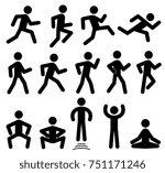 people figures in motion ... | Shutterstock . vector #751171246