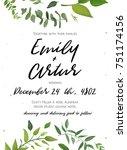 Wedding Invitation  Floral...