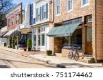 traditional stores along a... | Shutterstock . vector #751174462