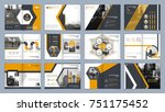 brochure template. book cover... | Shutterstock .eps vector #751175452