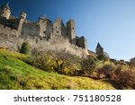 fortified city of carcassonne... | Shutterstock . vector #751180528