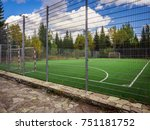 soccer field with green grass... | Shutterstock . vector #751181752